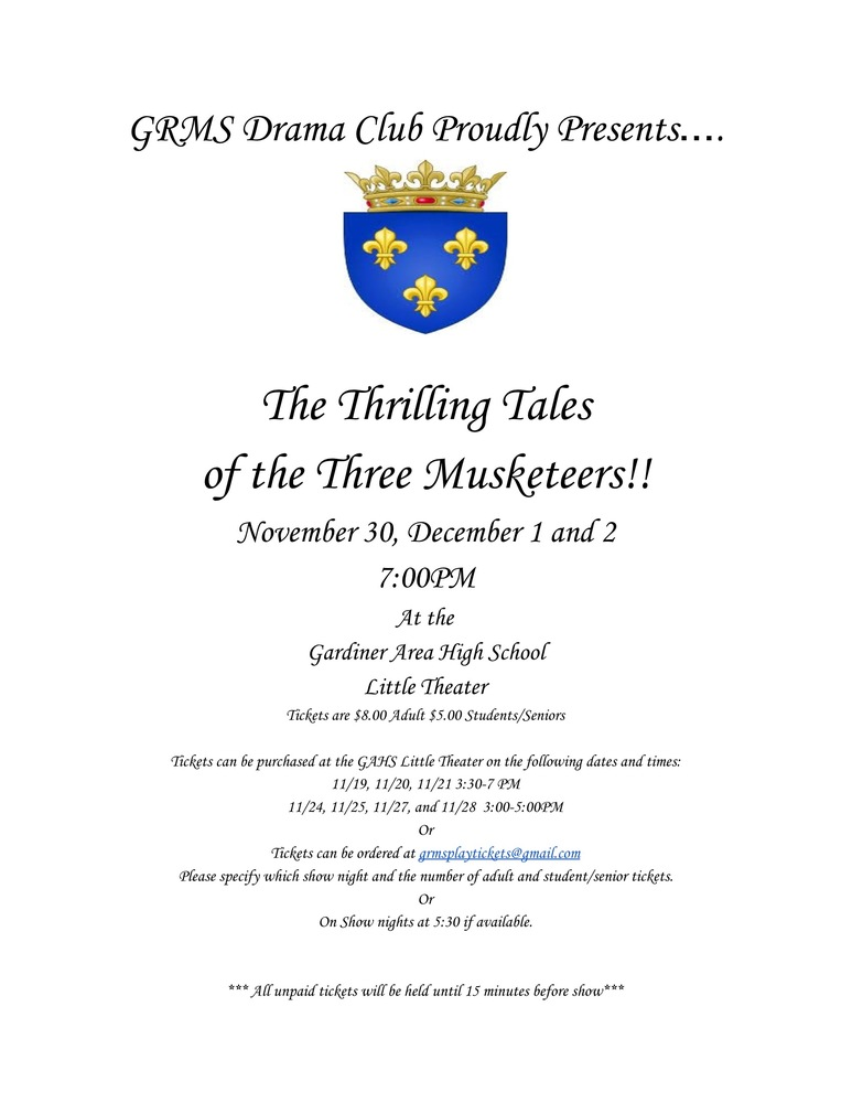 Gardiner Regional Middle School Presents: