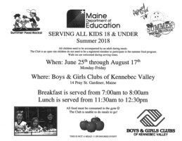 Summer Food Program - Maine Department of Education