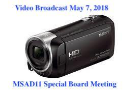 VIDEO OF THE MSAD11 SPECIAL SCHOOL BOARD MEETING MAY 7, 2018