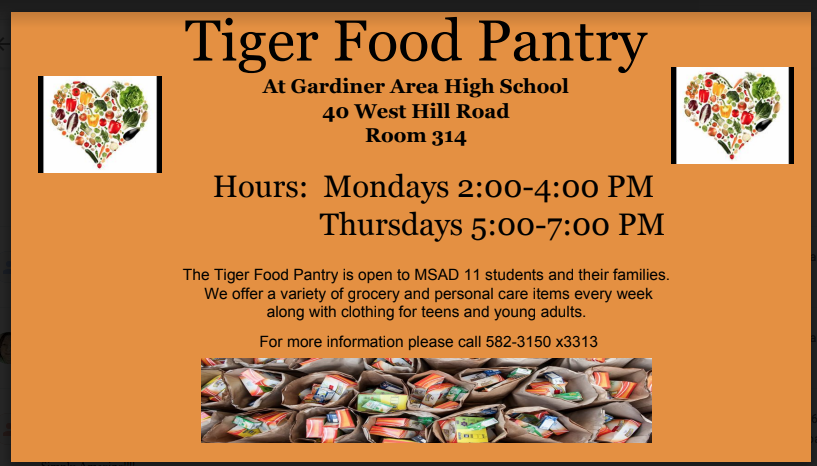 The Tiger Food Pantry is OPEN!