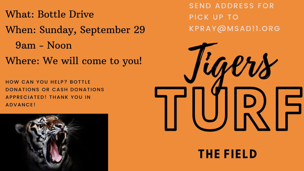 Tigers Turf The Field - Fund Raiser