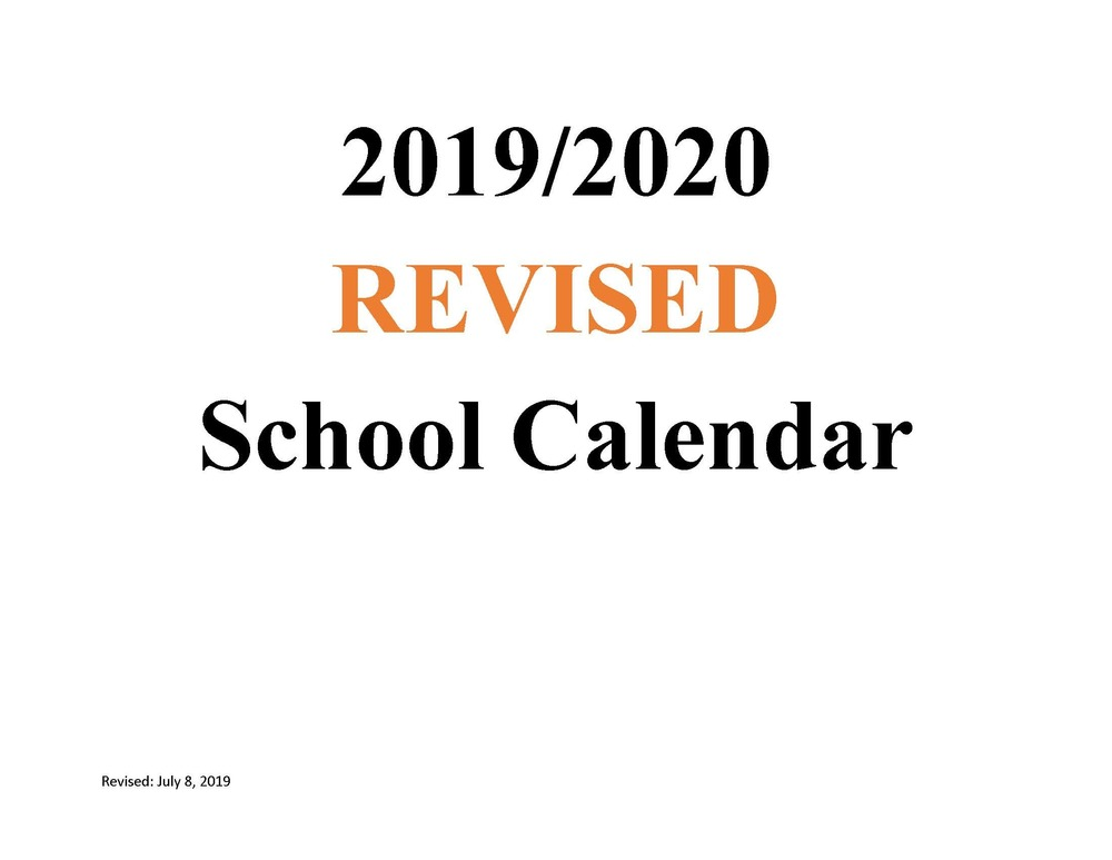 MSAD 11 2019/2020 REVISED School Calendar