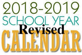 MSAD11 2018 2019 Revised School Calendar
