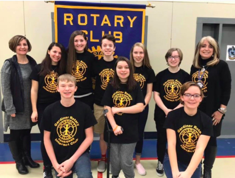 GAHS INTERACT CLUB PRESENTS AT GARDINER ROTARY CLUB MEETING