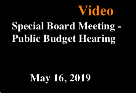 MSAD11 Special Board Meeting May 16, 2019