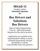 Immediate Openings for Bus Drivers