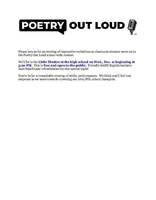 Poetry Out Loud - Gardiner Area High School