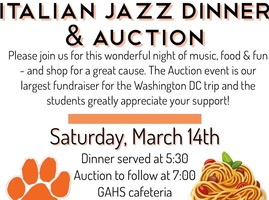 HS Band Italian Jazz Dinner & Auction - March 14th!