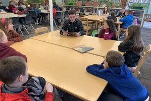 HS Students and 5th Graders: Reading Buddies at GAHS