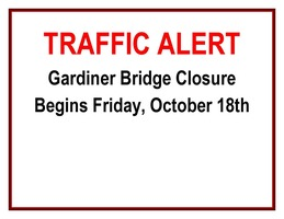 Traffic Alert - Gardiner Bridge Street Closure