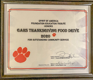 GAHS Thanksgiving Food Drive