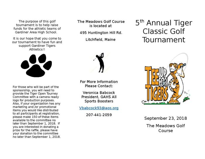 5th Annual Tiger Classic Tournament