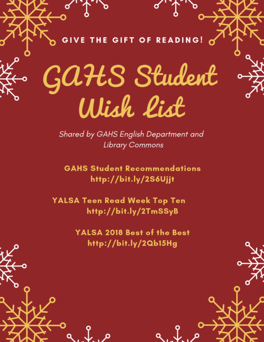 Revised Student Reading Wish List