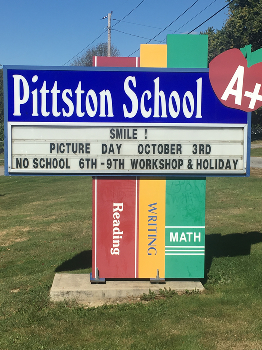 Pittston school sign