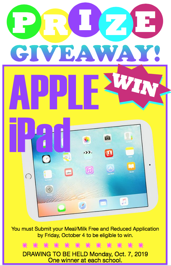Apple IPad Giveaway Poster