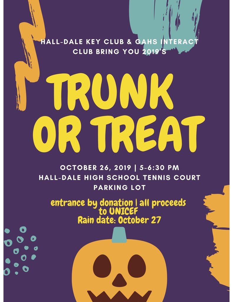 Trunk or Treat information poster