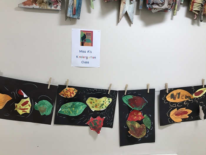 Autumn in Kindergarten display.
