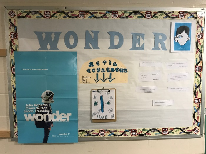 """Wonder"" bulletin board image."