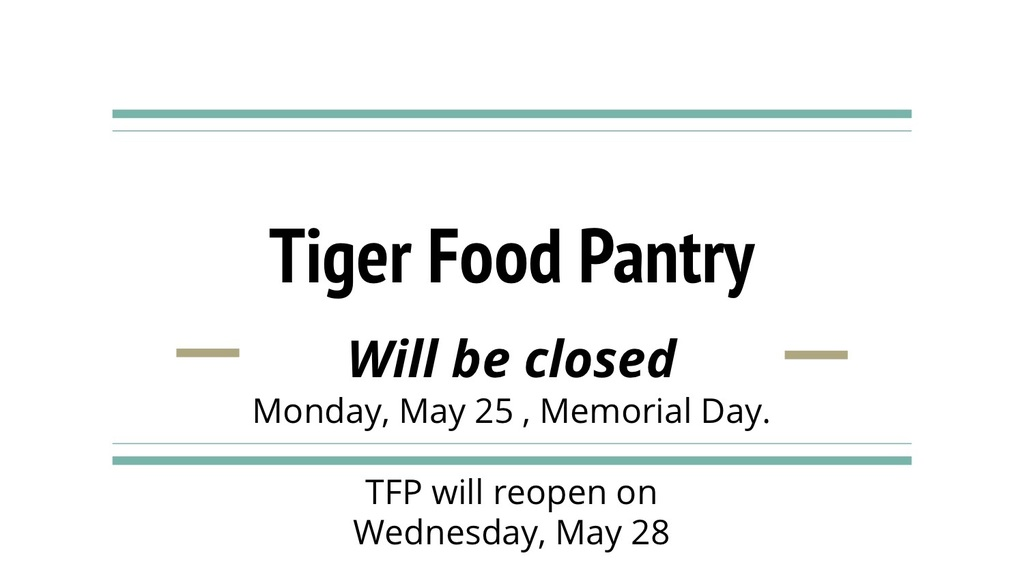 Tiger Food Pantry poster