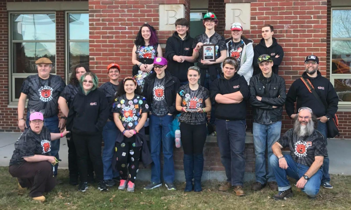Our high school robotics team after the competition in Massachusetts.