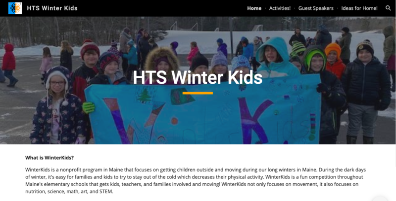 HTS Winter Kids website
